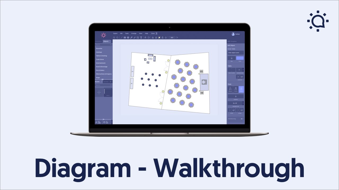 medium resolution of event layout software social tables diagram walkthrough