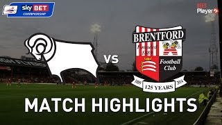 Derby County 1-1 Brentford | Injury time sucker punch means a share of the spoils.