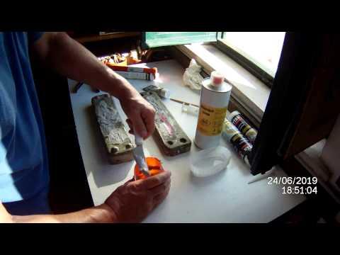 anguilla silicone acetico in stampo di cemento