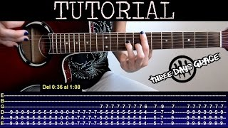 Cómo tocar Gone Forever  de Three Days Grace (Tutorial de guitarra) / How to play