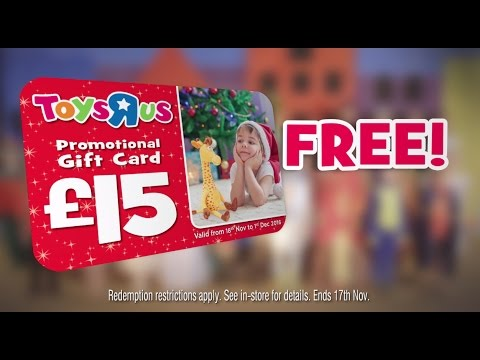 Toys R Us Christmas Advert 2016 - Catalogue & Gift Card 2016