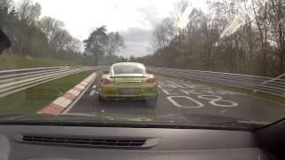 Megane Rs 2014 + Porsche Cayman R Nürburgring Nordschleife - No Cayman Gt4