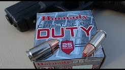 9mm +P Hornady CRITICAL DUTY Ammo Gel Test