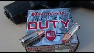 9mm +P Hornady CRITICAL DUTY Ammo Gel Test