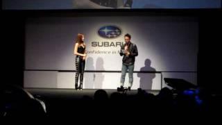 2011年11月30日、スバル BRZ発表会サプライズゲストとして登場の黒木メ...