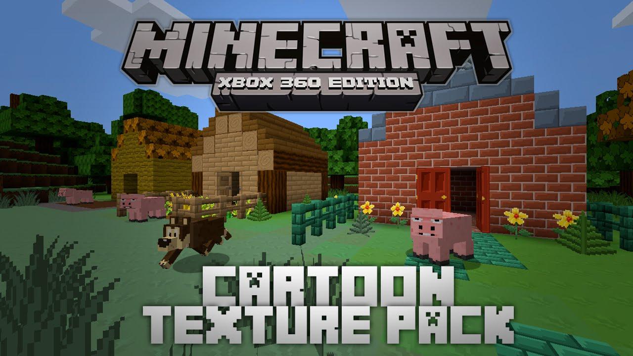 "Minecraft Xbox - TESTONS LE ""CARTOON TEXTURE PACK"" ! WTF ?! |FR| - YouTube"