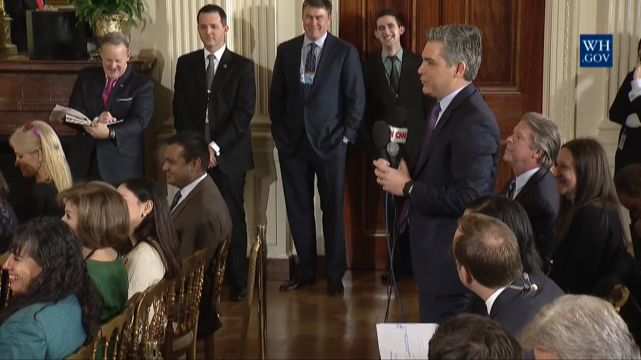 President Trump Talks With Jim Acosta of CNN About Fake ...