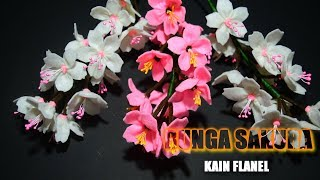 Kerajinan dari Kain Flanel dan Cara Membuatnya | Bunga Sakura