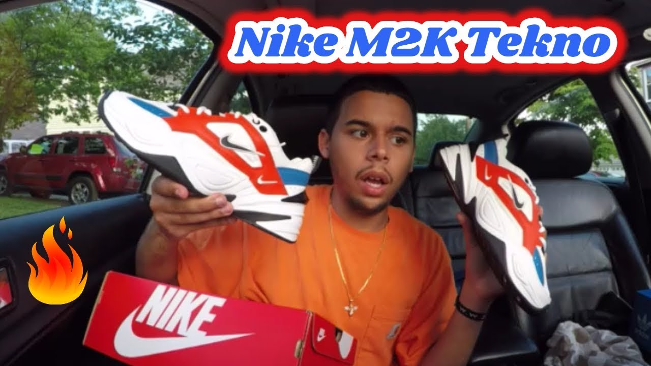 puesta de sol comerciante Médico  NIKE M2K TEKNO MONARCH JOHN ELLIOTT (UNBOXING) REVIEW - YouTube