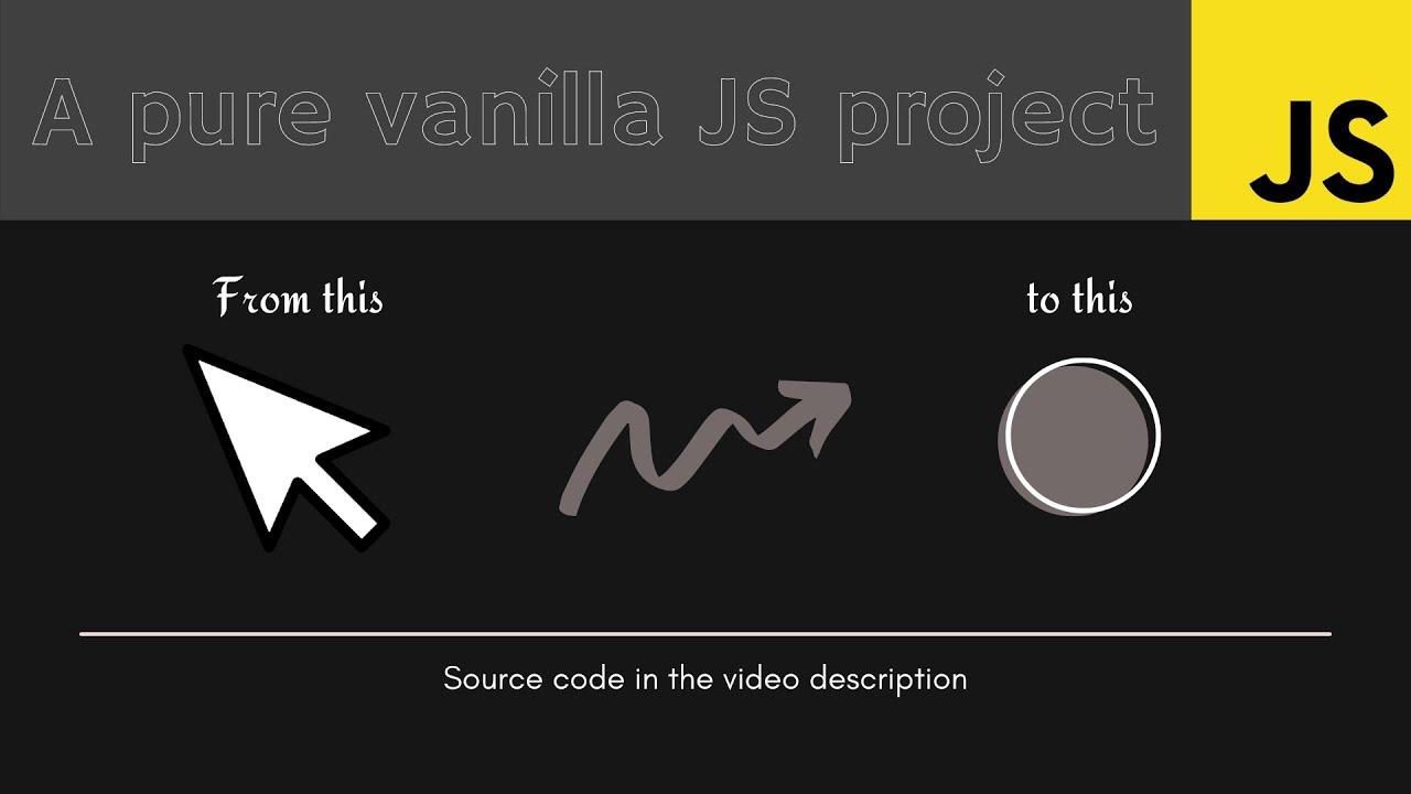 Custom Cursor using Pure Vanilla JavaScript (no Plugins)
