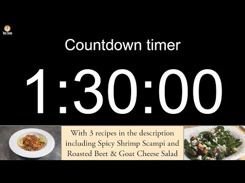 1 and a half hour Countdown timer (with alarm)