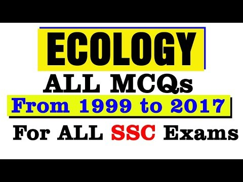 ECOLOGY MCQs From 1999 to 2017