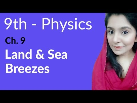 9th Class Physics, Ch 9, Land & Sea Breezes - Transfer of Heat- Matric Part  1 Physics