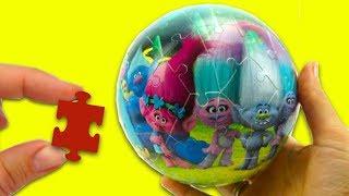 Необычный пазл для детей, в форме шара