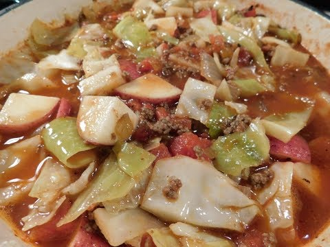 Hamburger Cabbage And Potato Soup (Easy Recipe)