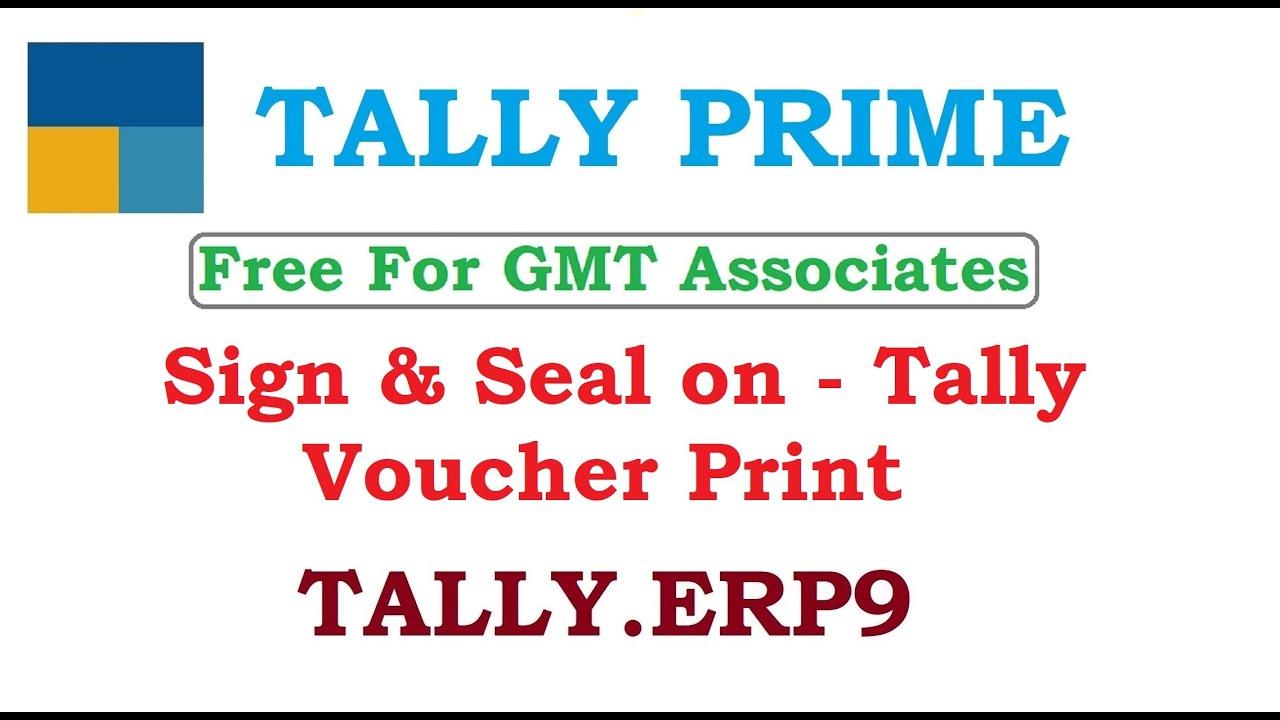 sign  u0026 seal on - tally voucher print