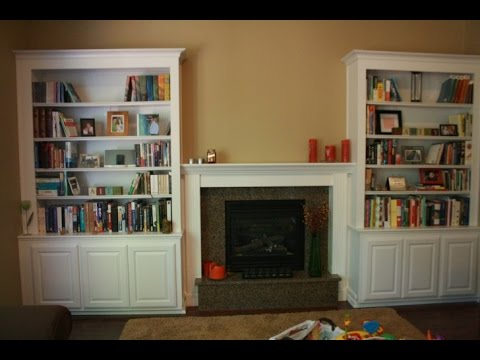 Shelves Beside Fireplace - YouTube