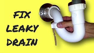 Repair Leaky Sink Drain Pipe
