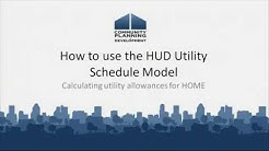 How To Use the HUD Utility Schedule Model