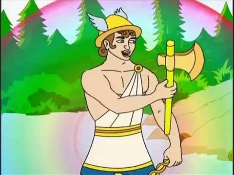 The Honest Woodcutter   Cartoon Channel   Famous Stories   Hindi Cartoons   Moral Stories