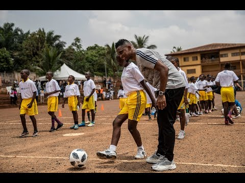 FIFA Legend Samuel Eto'o brings message of hope