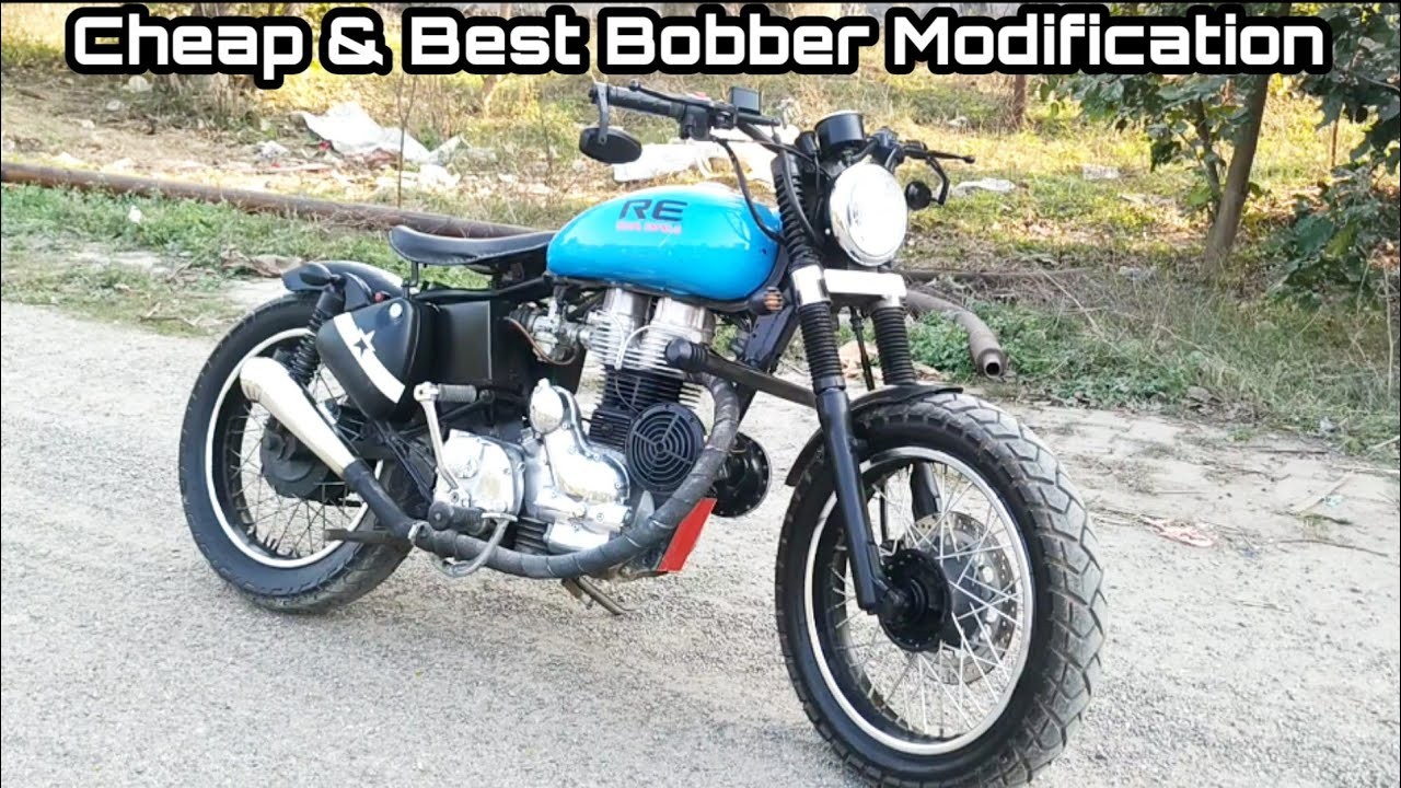Royal Enfield Bullet Modified into Bobber | Fat Tyres | Total Modification