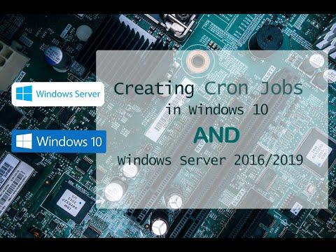 Creating Cron Jobs In Windows 10 And Windows Server 2016 | PHP Crons On IIS | Windows 10 Cron Jobs