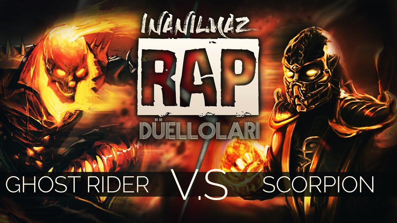 Ghost Rider vs Scorpion | İnanılmaz Rap Düelloları - YouTube