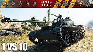 1 против 10 WZ-131 вот как играть на лт 🌟🌟🌟 World of Tanks лучший бой