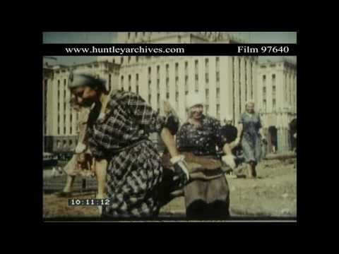Women at Work in the 1950's in the Soviet Union.  Archive film 97640