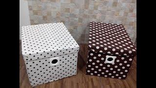 Caixa organizadora feita de papelão