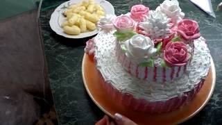 Оформление торта. Как украсить торт. Украшение белковым кремом. Красивые торты. cake decoration
