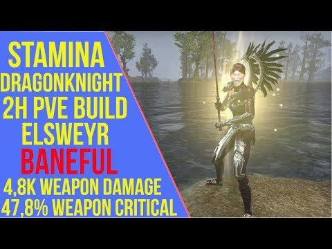 2H Stamina Dragonknight PVE Build ESO - ArzyeLBuilds