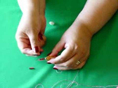 Enhebrado de la aguja para bordado en relieve o for Como hacer alfombras en bordado chino