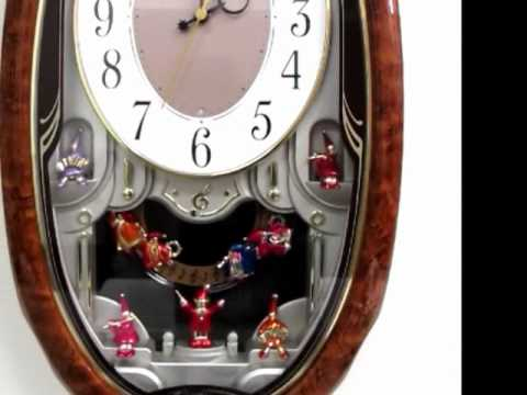 QXM216BRH Seiko Melodies in Motion Musical Jesters Clock YouTube