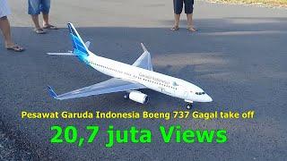 pesawat garuda indonesia Boeing 737 gagal take off