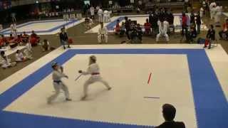 全少 6年男子組手 第15回全日本少年少女空手道選手権大会 決勝