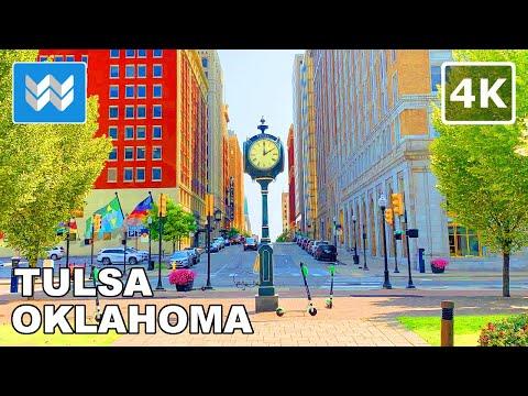 [4K] Downtown Tulsa Oklahoma, USA 2020 Virtual Walking Tour