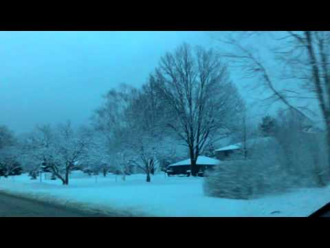 Captured snow view on Roadside During Winter - Mayfield Ohio YEAR-2015