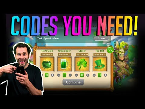 ALL Magic Codes You Need St Patricks Day Event! Castle Clash
