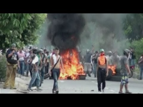 Colombia water protest: Clashes during water protest in Yopal
