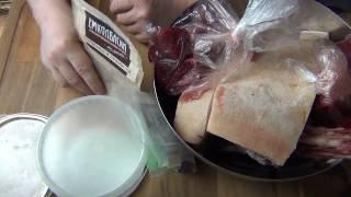 Сырокопченая колбаса. Рецепт.