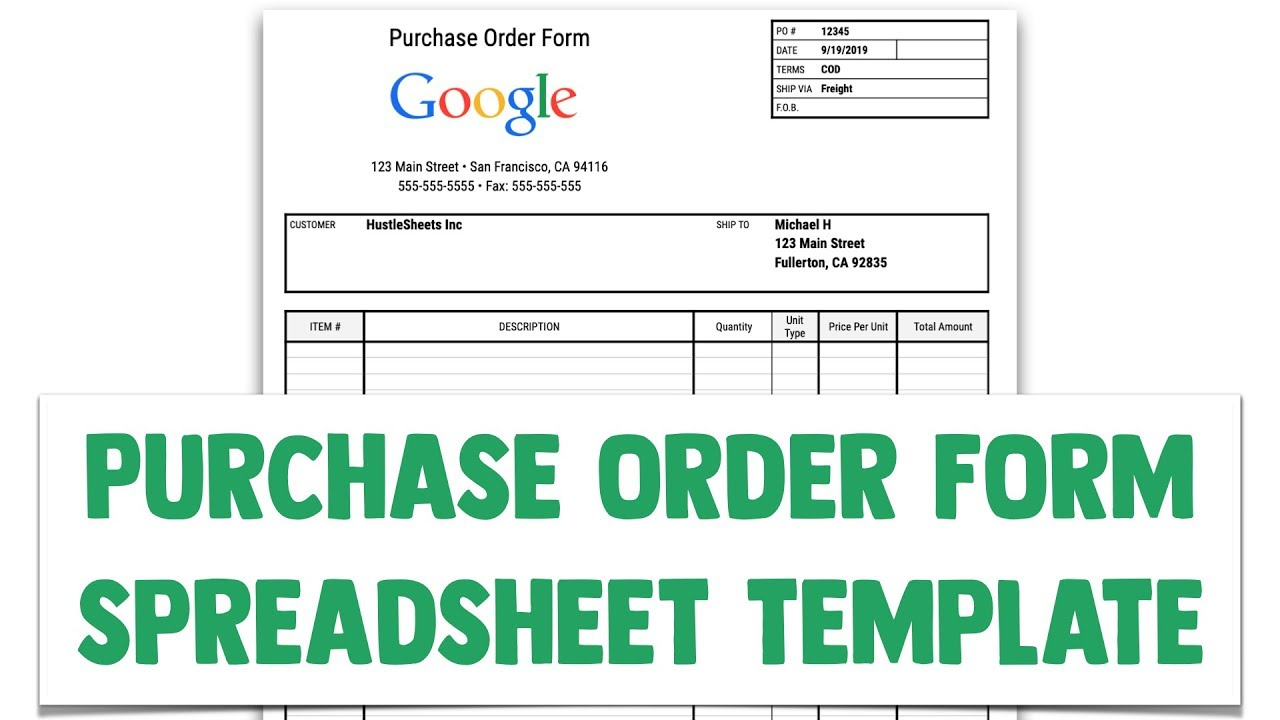 Ordering Form Template Excel from i.ytimg.com