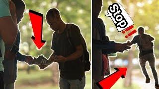 Stealing Strangers Shoes Prank