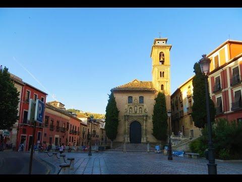 Granada, Spain - Plaza Nueva (main square of central Granada)