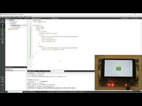 [FR] Qt for MCUs; Mon premier exemple QML