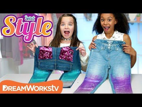 DIY Metallic Holo Jeans   SPIRIT STYLE