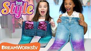 DIY Metallic Holo Jeans | SPIRIT STYLE