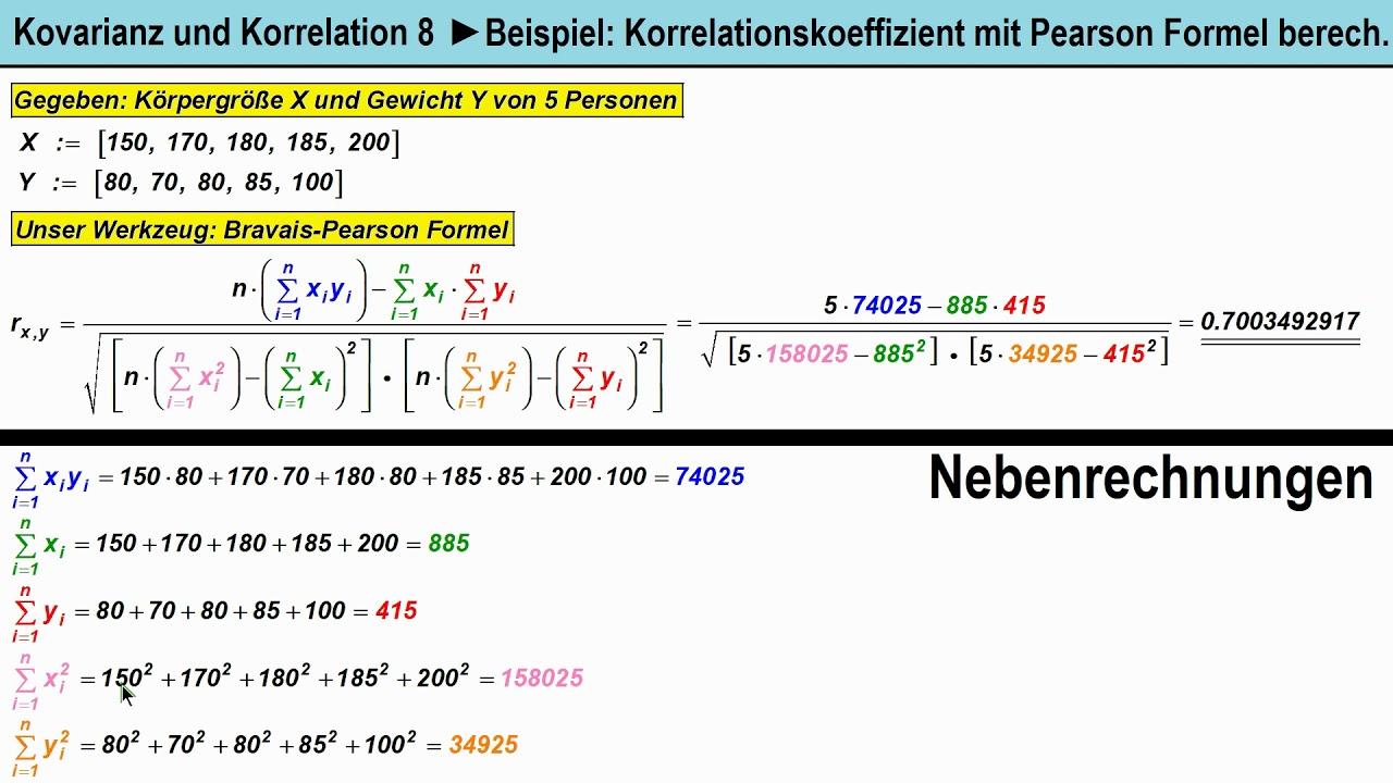 Kovarianz Erklarung Formel Berechnung Mit Video 3