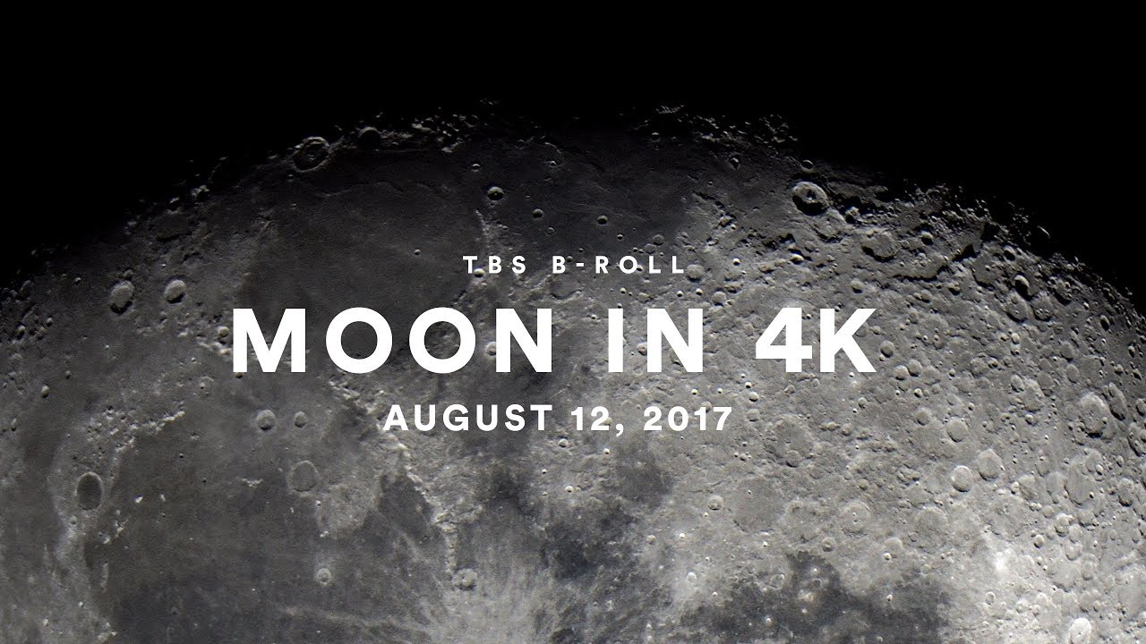 TBS B-Roll - 4K Moon - Pushing the Resolution - Waning Gibbous 85%